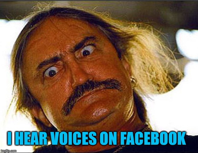 I HEAR VOICES ON FACEBOOK | made w/ Imgflip meme maker