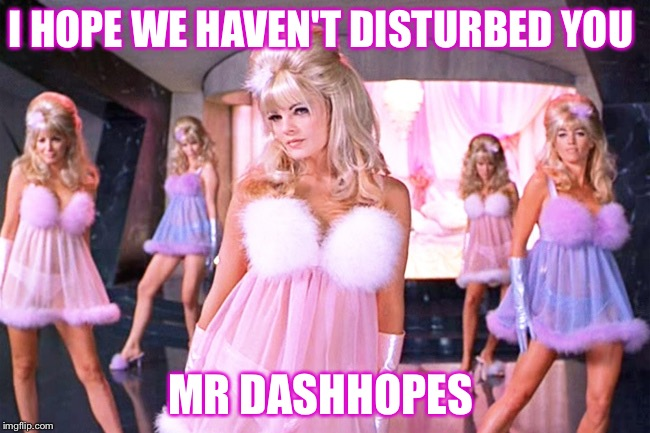 I HOPE WE HAVEN'T DISTURBED YOU MR DASHHOPES | made w/ Imgflip meme maker