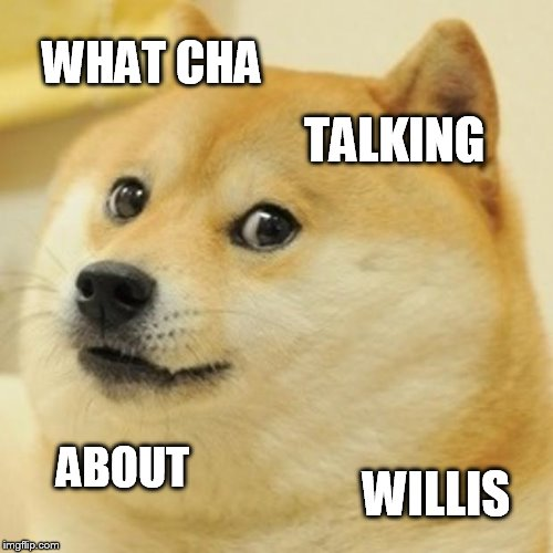 Doge Meme | WHAT CHA TALKING ABOUT WILLIS | image tagged in memes,doge | made w/ Imgflip meme maker