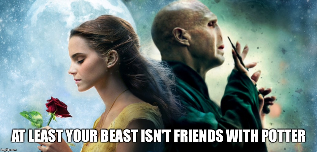 AT LEAST YOUR BEAST ISN'T FRIENDS WITH POTTER | made w/ Imgflip meme maker