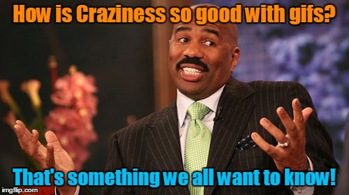 Steve Harvey Meme | How is Craziness so good with gifs? That's something we all want to know! | image tagged in memes,steve harvey | made w/ Imgflip meme maker