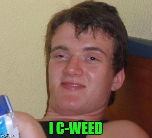 10 Guy Meme | I C-WEED | image tagged in memes,10 guy | made w/ Imgflip meme maker