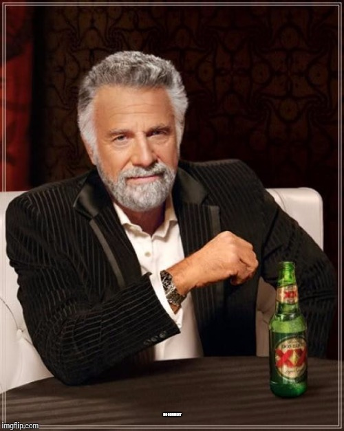 The Most Interesting Man In The World Meme | NO COMMENT | image tagged in memes,the most interesting man in the world | made w/ Imgflip meme maker