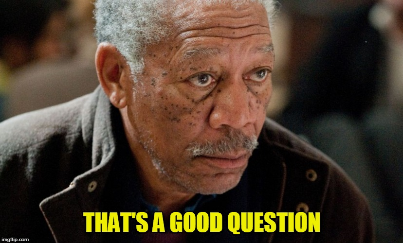 Morgan Freeman | THAT'S A GOOD QUESTION | image tagged in morgan freeman | made w/ Imgflip meme maker