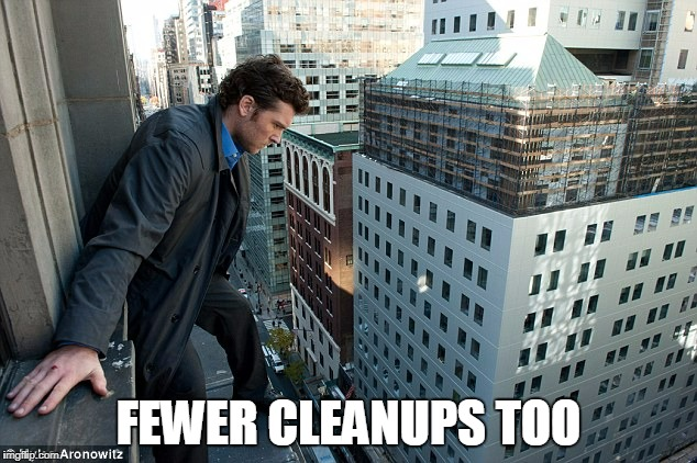 FEWER CLEANUPS TOO | made w/ Imgflip meme maker