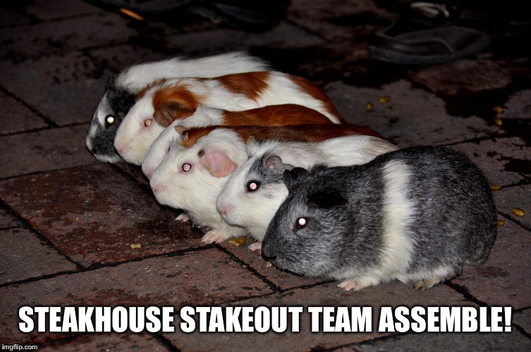 STEAKHOUSE STAKEOUT TEAM ASSEMBLE! | made w/ Imgflip meme maker
