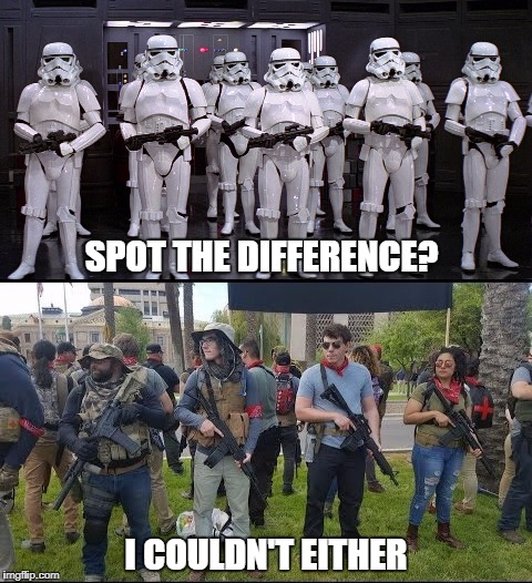 Leftist Stormtroopers | SPOT THE DIFFERENCE? I COULDN'T EITHER | image tagged in left,left wing,stormtrooper,antifa | made w/ Imgflip meme maker