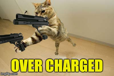 OVER CHARGED | made w/ Imgflip meme maker