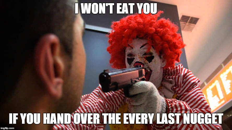 I WON'T EAT YOU IF YOU HAND OVER THE EVERY LAST NUGGET | made w/ Imgflip meme maker