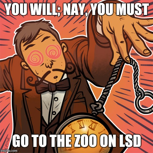 YOU WILL; NAY, YOU MUST GO TO THE ZOO ON LSD | made w/ Imgflip meme maker