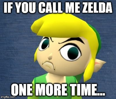IF YOU CALL ME ZELDA ONE MORE TIME... | image tagged in wind waker link | made w/ Imgflip meme maker