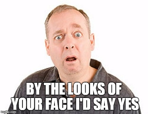 BY THE LOOKS OF YOUR FACE I'D SAY YES | made w/ Imgflip meme maker