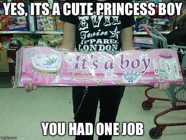 So cute... | YES, ITS A CUTE PRINCESS BOY YOU HAD ONE JOB | image tagged in you had one job | made w/ Imgflip meme maker