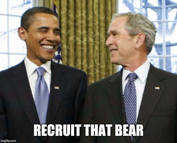 Memes | RECRUIT THAT BEAR | image tagged in memes | made w/ Imgflip meme maker