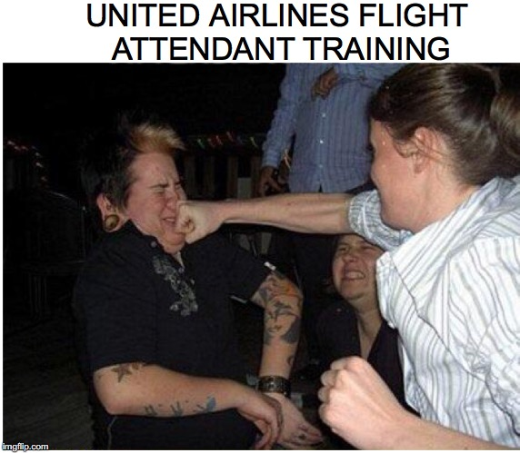 Friendly Skies | UNITED AIRLINES FLIGHT ATTENDANT TRAINING | image tagged in united airlines,flight attendant | made w/ Imgflip meme maker