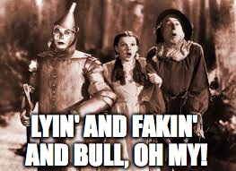 LYIN' AND FAKIN' AND BULL, OH MY! | made w/ Imgflip meme maker