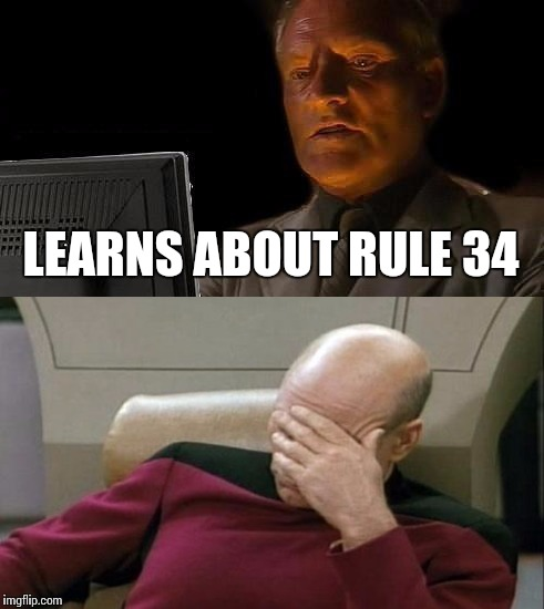 LEARNS ABOUT RULE 34 | made w/ Imgflip meme maker