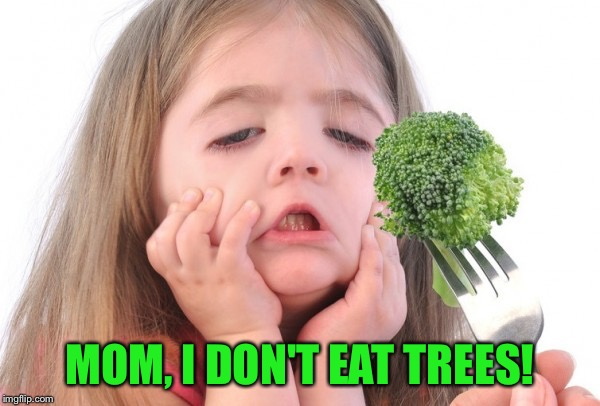 MOM, I DON'T EAT TREES! | made w/ Imgflip meme maker