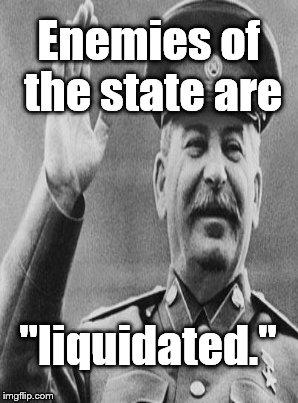 "How do you get to be an ""enemy of the state?"" In his day only Stalin knew-and he kept it secret . . . 