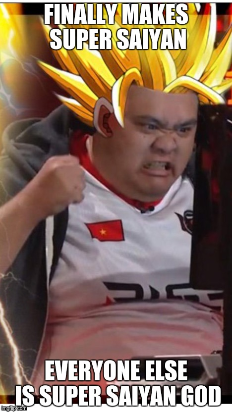 FINALLY MAKES SUPER SAIYAN EVERYONE ELSE IS SUPER SAIYAN GOD | made w/ Imgflip meme maker