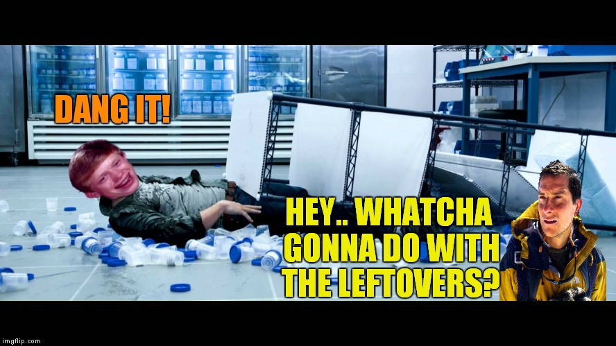 DANG IT! HEY.. WHATCHA GONNA DO WITH THE LEFTOVERS? | made w/ Imgflip meme maker