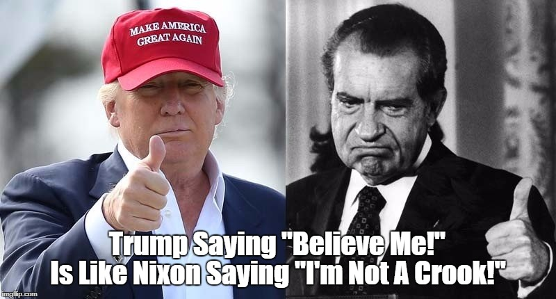 "When Trump Says ""Believe Me,"" Your Shit-o-Meter Should ""Red-Line"" 