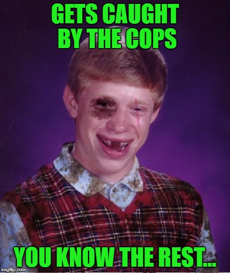 GETS CAUGHT BY THE COPS YOU KNOW THE REST... | made w/ Imgflip meme maker