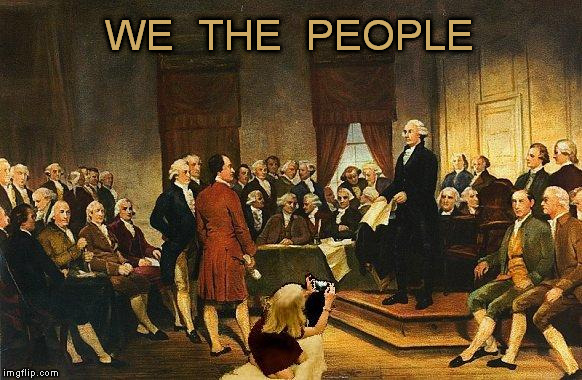 The Detail the Painter Missed | WE  THE  PEOPLE | image tagged in kellyanne conway couch meme,independence day,4th of july,fourth of july | made w/ Imgflip meme maker