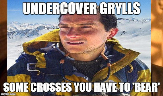 UNDERCOVER GRYLLS SOME CROSSES YOU HAVE TO 'BEAR' | made w/ Imgflip meme maker
