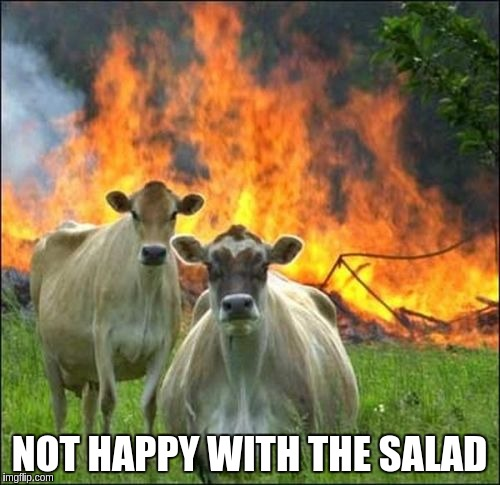 NOT HAPPY WITH THE SALAD | made w/ Imgflip meme maker