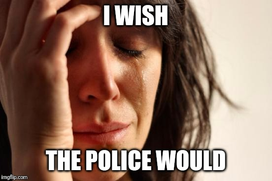 First World Problems Meme | I WISH THE POLICE WOULD | image tagged in memes,first world problems | made w/ Imgflip meme maker