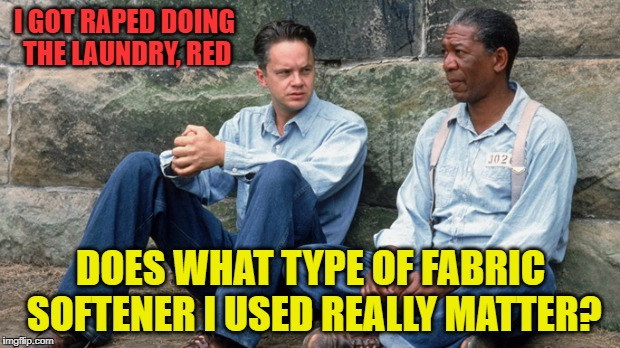 I GOT **PED DOING THE LAUNDRY, RED DOES WHAT TYPE OF FABRIC SOFTENER I USED REALLY MATTER? | made w/ Imgflip meme maker