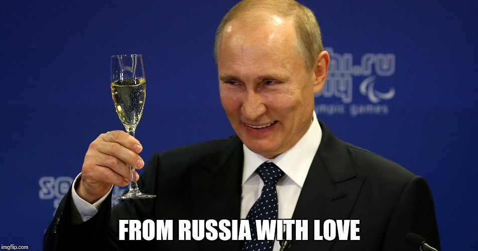 Malware | FROM RUSSIA WITH LOVE | image tagged in memes,funny,putin,russia | made w/ Imgflip meme maker