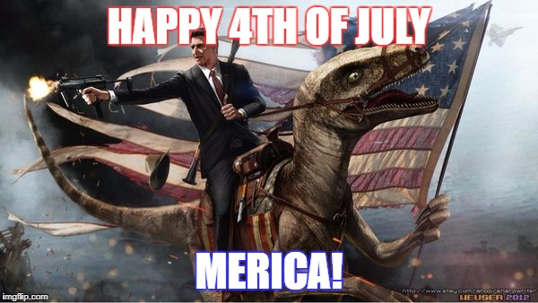 HAPPY 4TH OF JULY MERICA! | image tagged in red,white,and ronald reagon | made w/ Imgflip meme maker