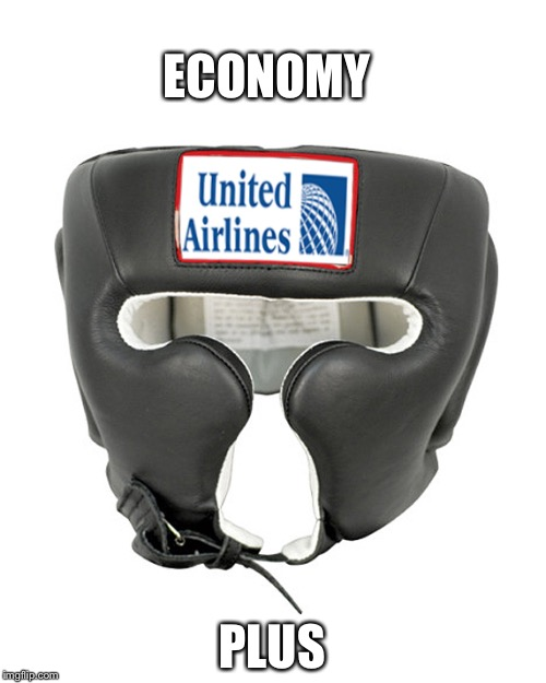 ECONOMY PLUS | image tagged in united airlines headgear | made w/ Imgflip meme maker