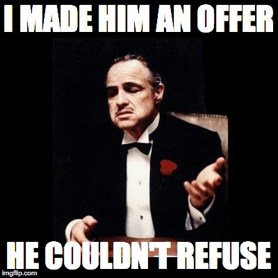 CNN Godfather | I MADE HIM AN OFFER HE COULDN'T REFUSE | image tagged in godfather | made w/ Imgflip meme maker