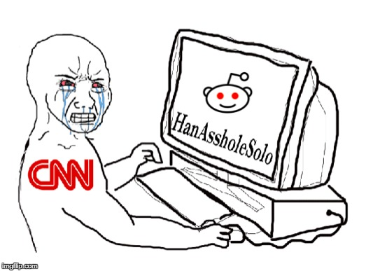 Circa 2017 July 4th, CNN declares war on HanAssholesolo, triggering the pepe coalition. The second Great meme war has begun! | KIK | image tagged in cnn,pepe,feels,maga,one does not simply | made w/ Imgflip meme maker