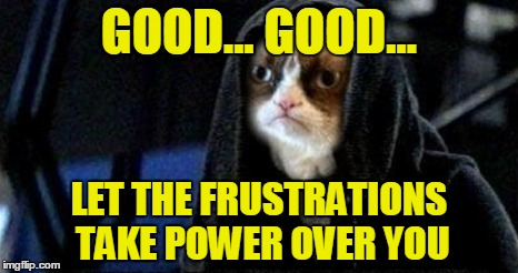 GOOD... GOOD... LET THE FRUSTRATIONS TAKE POWER OVER YOU | made w/ Imgflip meme maker