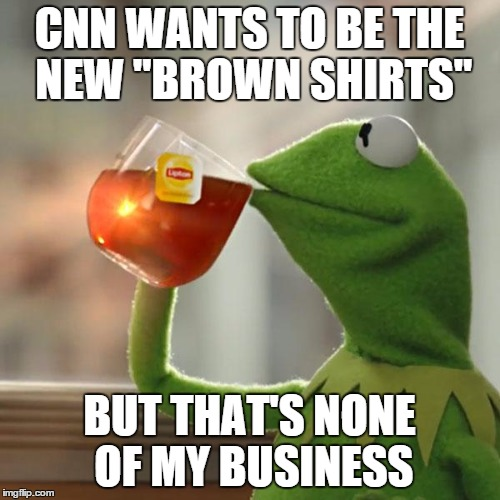 "But Thats None Of My Business Meme | CNN WANTS TO BE THE NEW ""BROWN SHIRTS"" BUT THAT'S NONE OF MY BUSINESS 