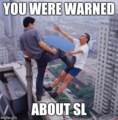 No more Pun , memes | YOU WERE WARNED ABOUT SL | image tagged in no more pun,memes | made w/ Imgflip meme maker