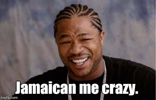 Yo Dawg Heard You Meme | Jamaican me crazy. | image tagged in memes,yo dawg heard you | made w/ Imgflip meme maker