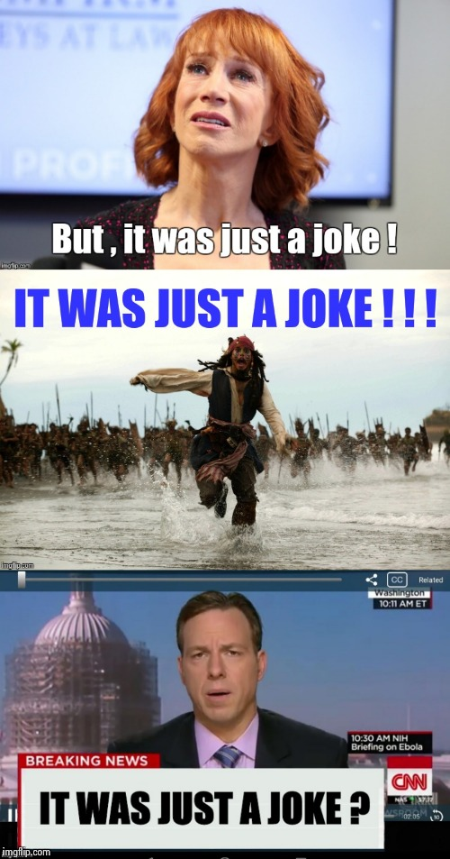 I thought my sense of humor was warped | image tagged in kathy griffin,johnny depp,cnn | made w/ Imgflip meme maker