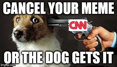 CANCEL YOUR MEME OR THE DOG GETS IT | image tagged in cancel your meme | made w/ Imgflip meme maker