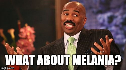 Steve Harvey Meme | WHAT ABOUT MELANIA? | image tagged in memes,steve harvey | made w/ Imgflip meme maker