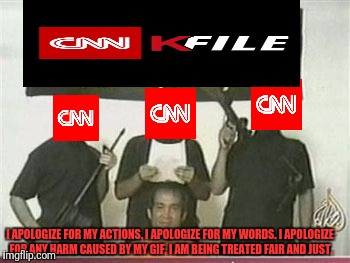 """I will now read a prepared apology by these... um, MY lawyers."" 
