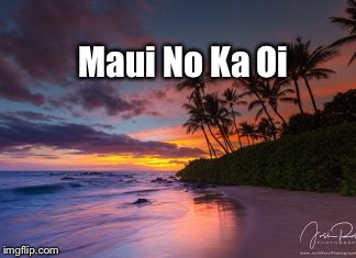 Maui No Ka Oi | image tagged in maui no ka oi | made w/ Imgflip meme maker