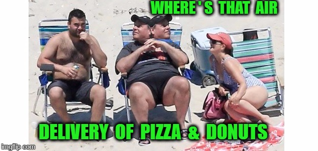 looking | WHERE ' S  THAT  AIR DELIVERY  OF  PIZZA  &  DONUTS | image tagged in dumbfounded christie | made w/ Imgflip meme maker
