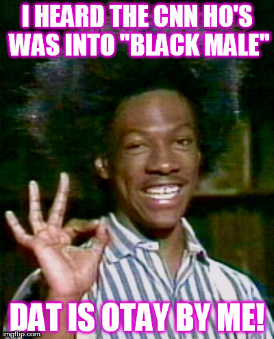 "I HEARD THE CNN HO'S WAS INTO ""BLACK MALE"" DAT IS OTAY BY ME! 