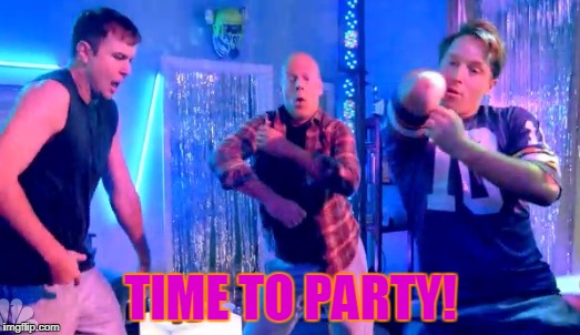 Boy Dance Party | TIME TO PARTY! | image tagged in boy dance party | made w/ Imgflip meme maker