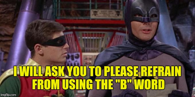 "I WILL ASK YOU TO PLEASE REFRAIN FROM USING THE ""B"" WORD 